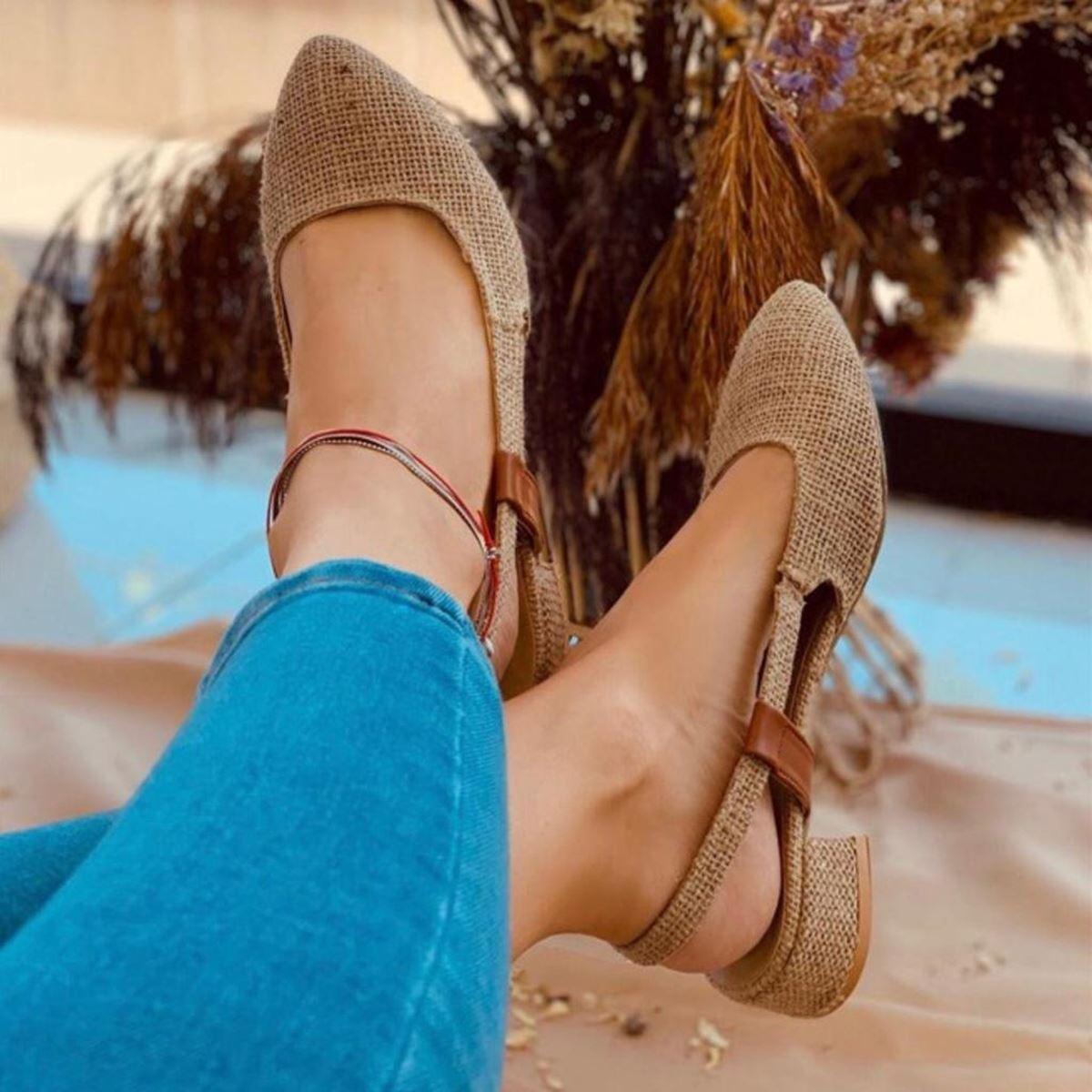 Hasır Lastikli Sandalet SND101