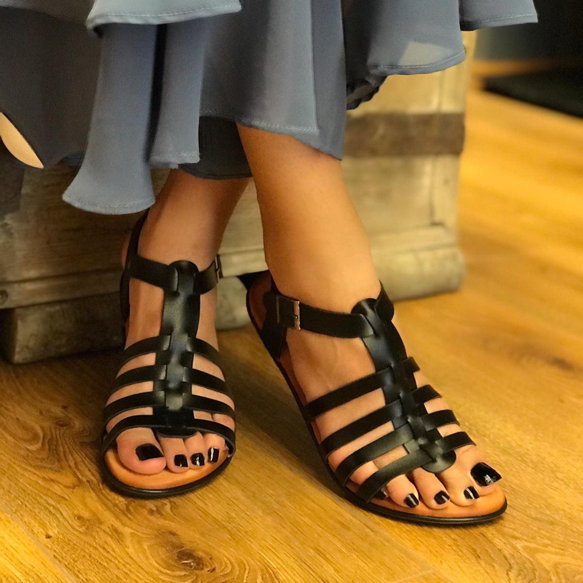 Siyah Ahtapot Sandalet SND062