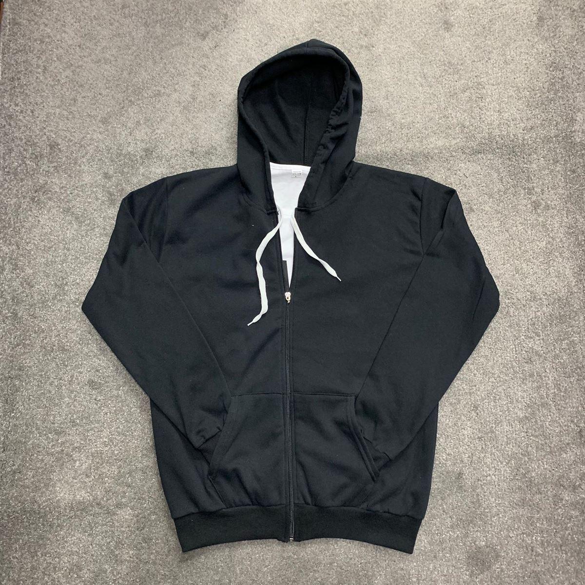 Siyah Fermuarlı Erkek Polar Sweat PL003