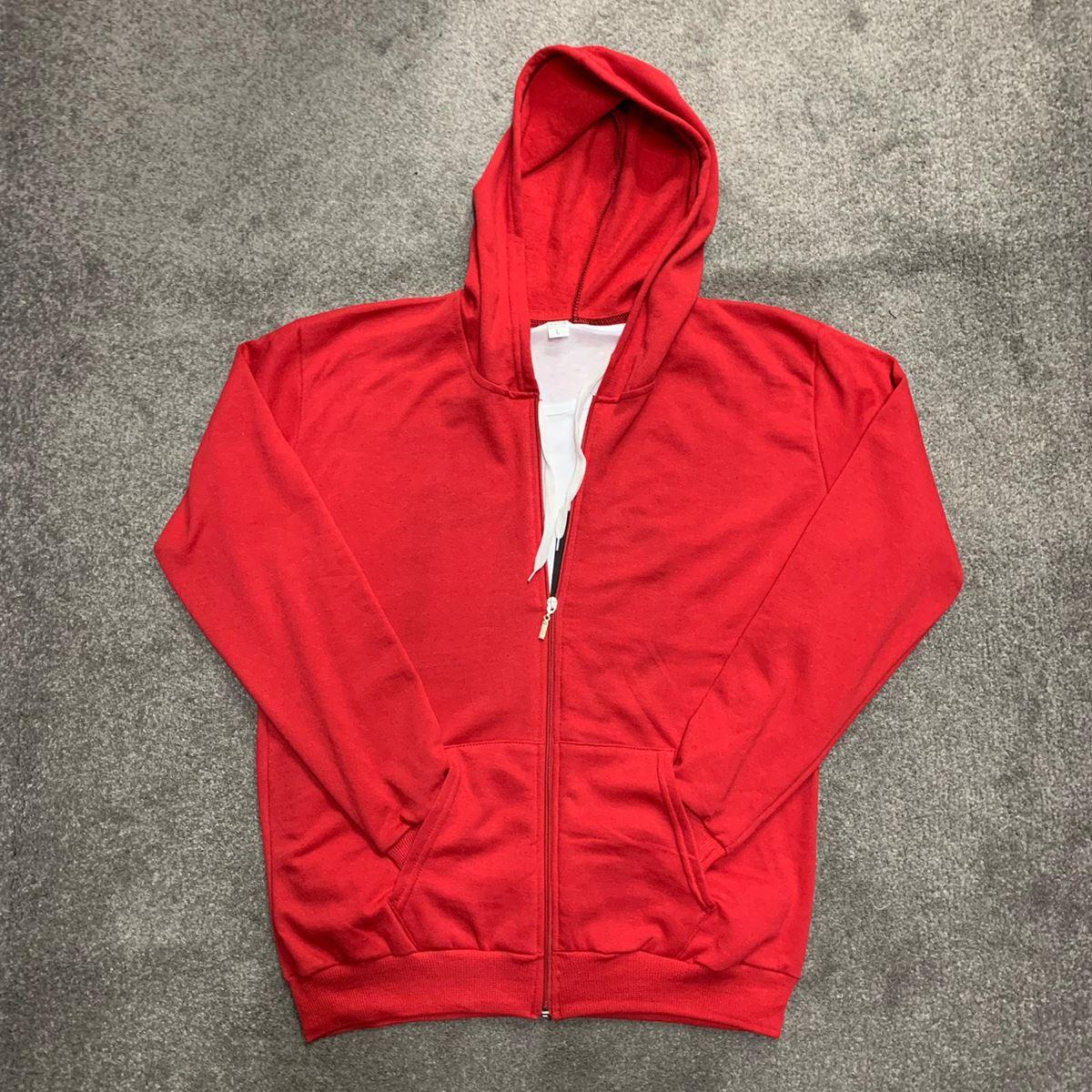 Kırmızı Fermuarlı Erkek Polar Sweat PL004