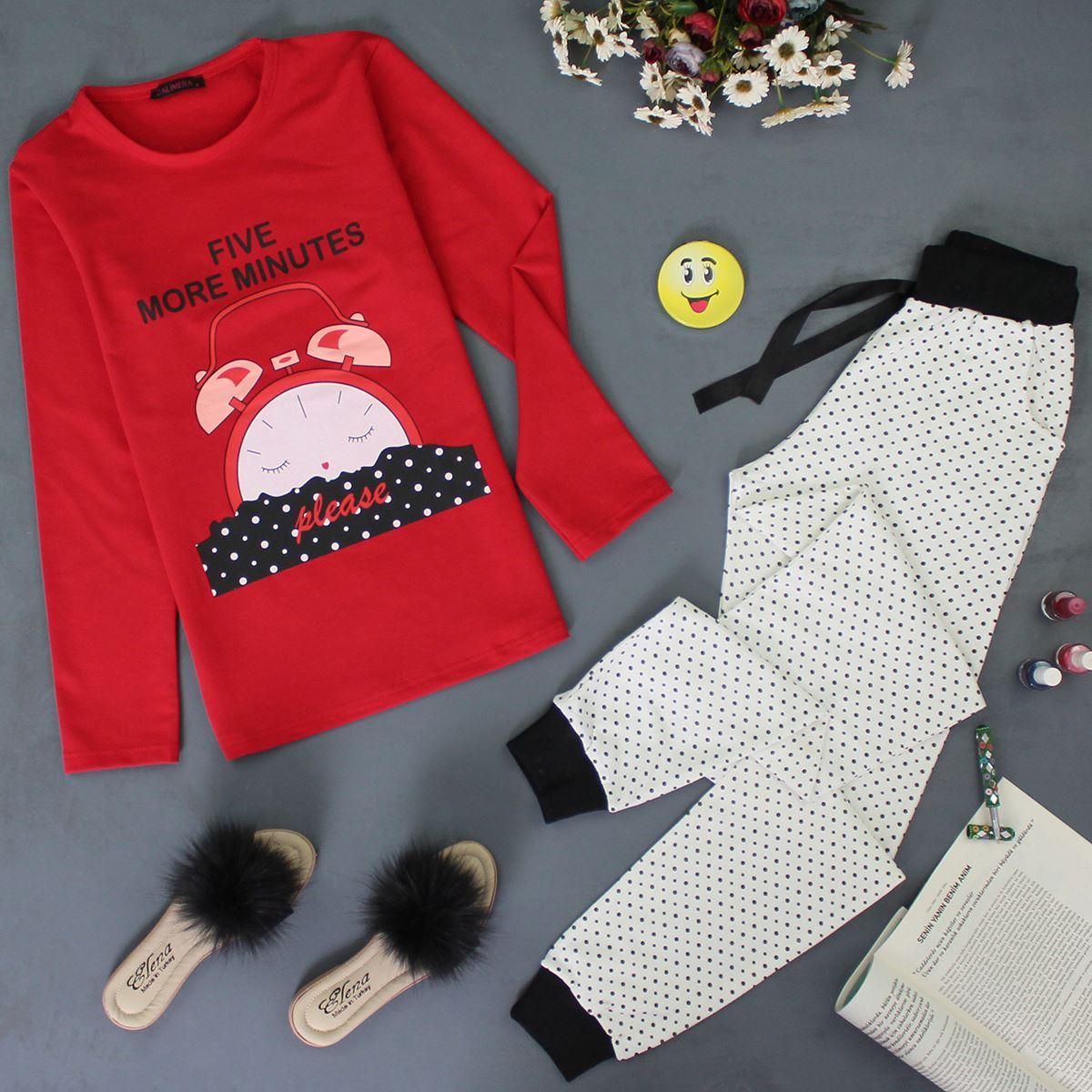 Baskılı Pijama Takımı PJM122