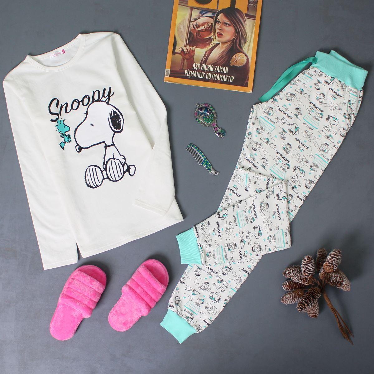Baskılı Pijama Takımı PJM135