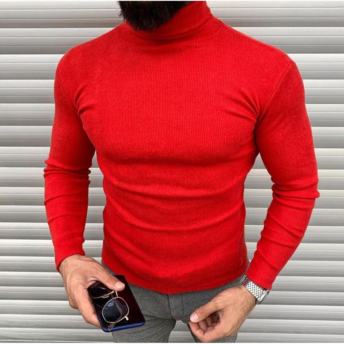 Kırmızı Erkek Triko TRK007