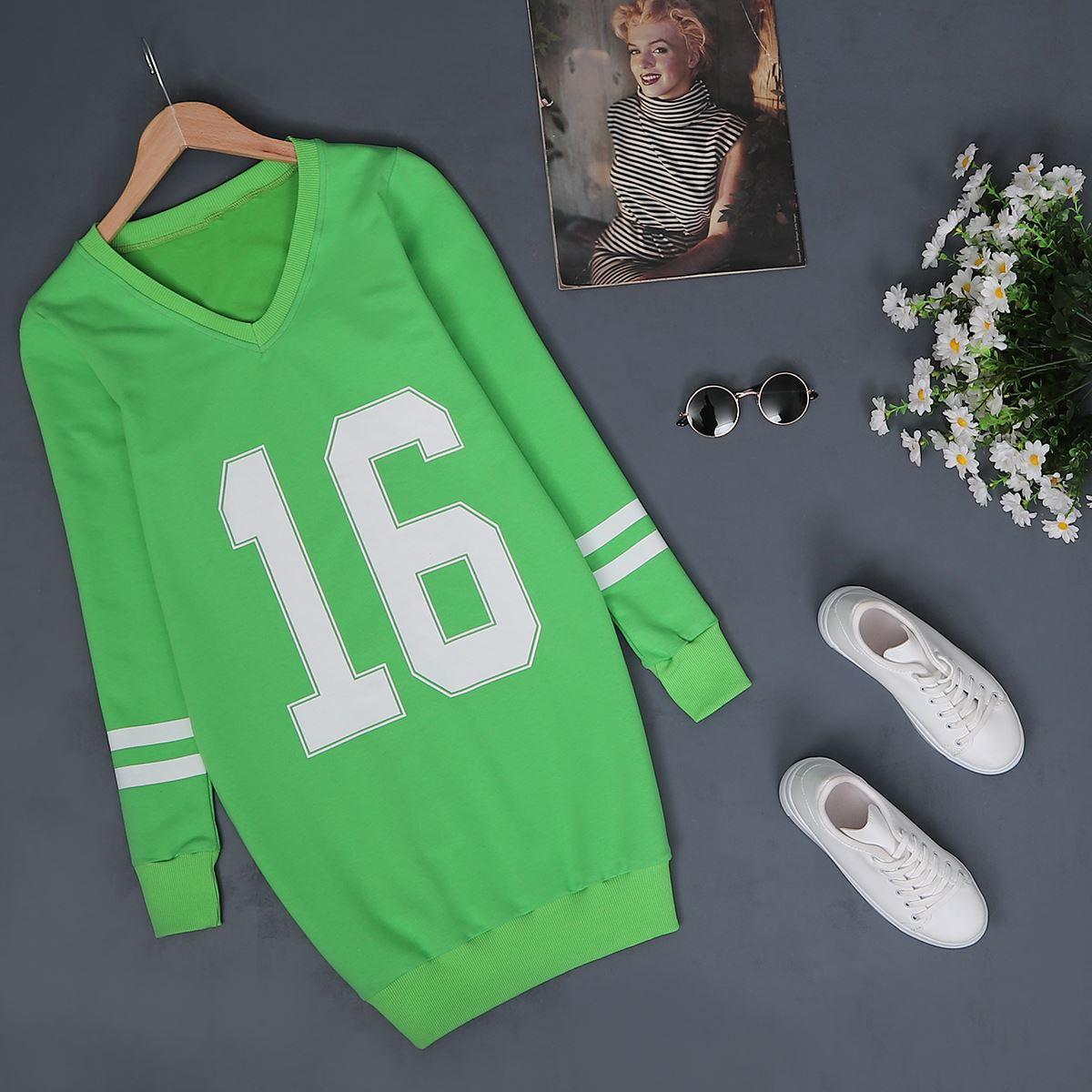 Yeşil Baskılı Sweat SWT089