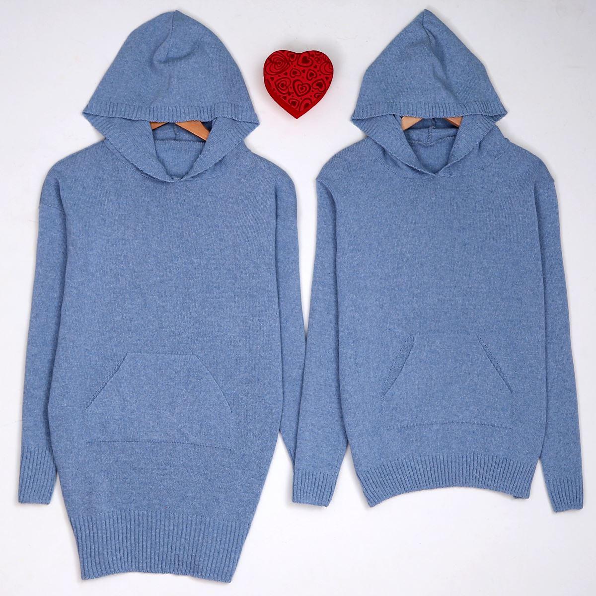 Mavi Kapşonlu Sevgili Kombini SVG109