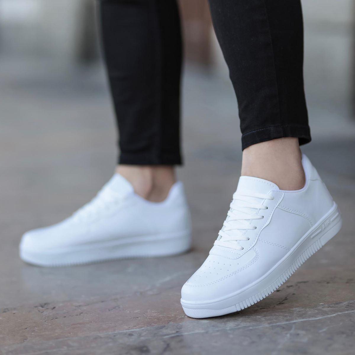 Erkek Beyaz Spor Ayakkabı AYK186