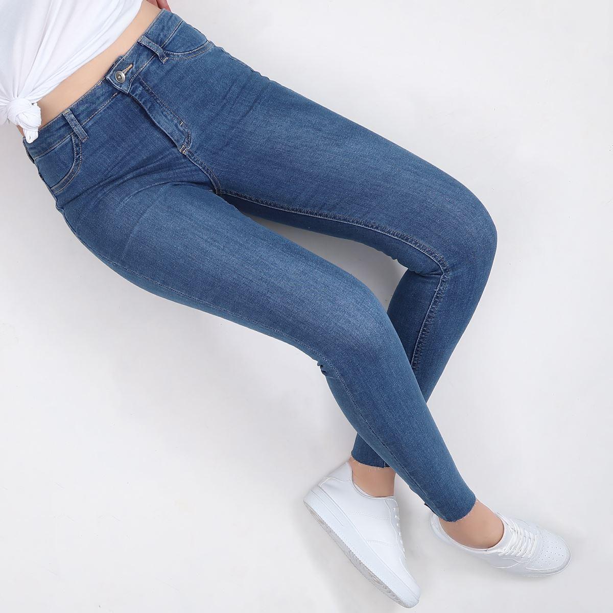 Mavi Yüksek Bel Skinny Jean PNT113