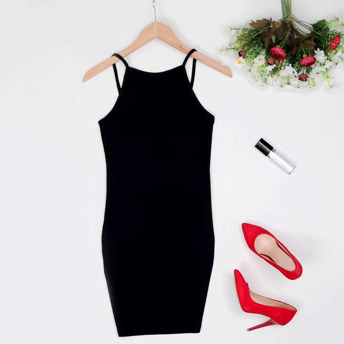 Siyah Kaşkorse Elbise ELB221