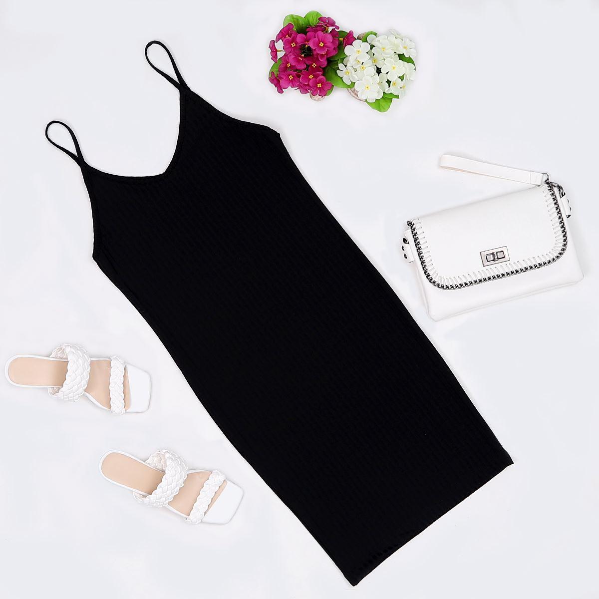 Siyah Kaşkorse Elbise ELB264