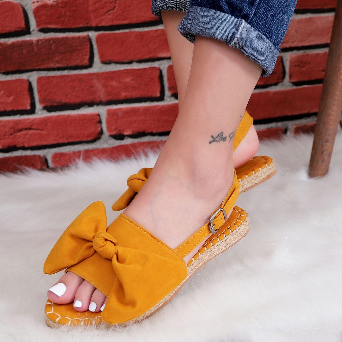 Hardal Fiyonklu Sandalet SND180