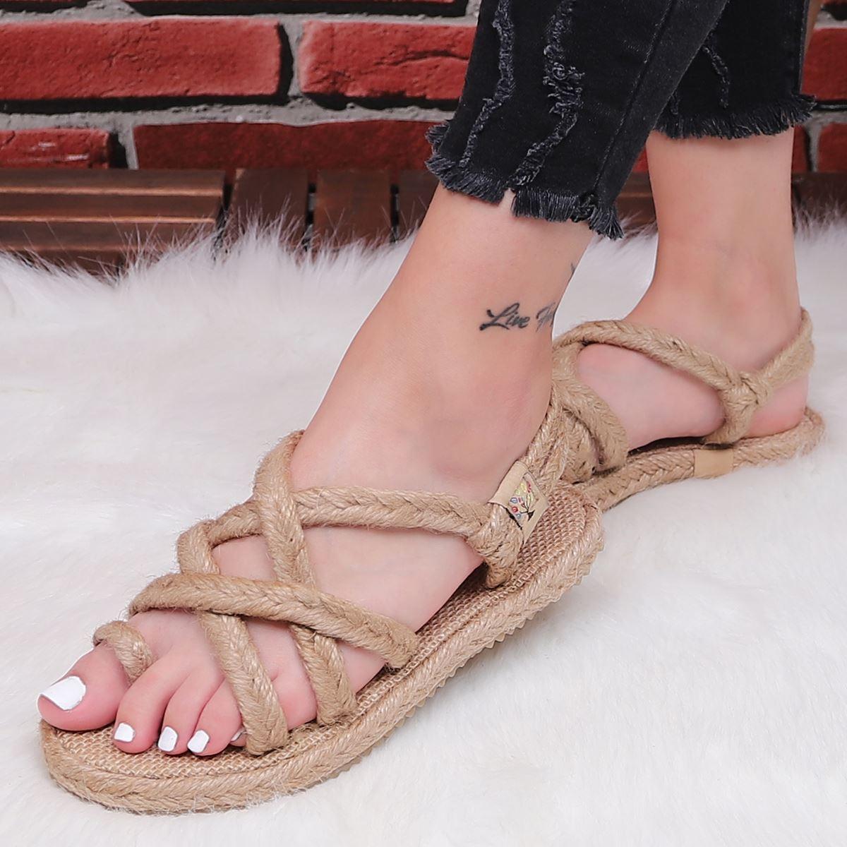 Vizon Hasır Sandalet SND032