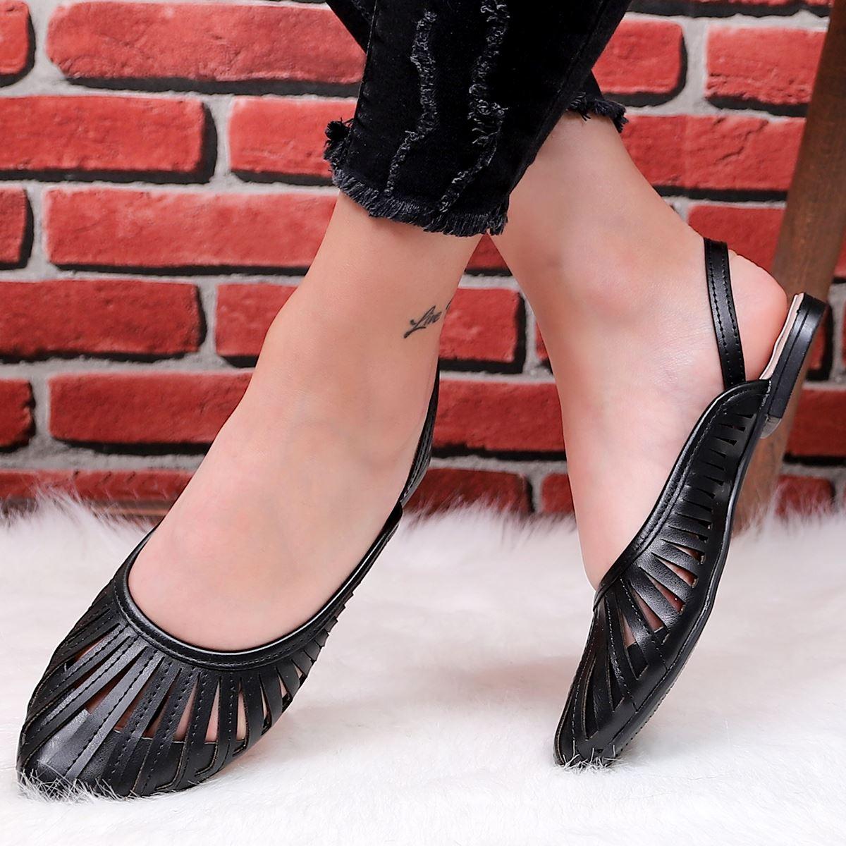 Siyah Kafes Sandalet SND163