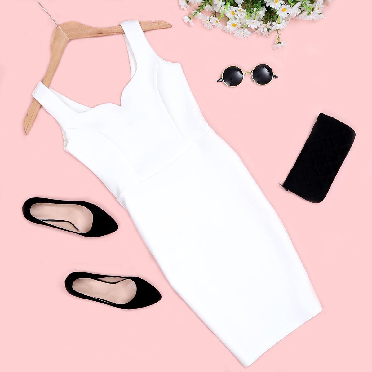 Beyaz  Elbise ELB307