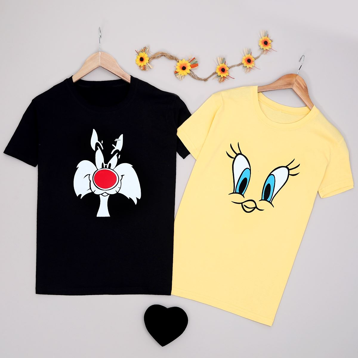 T-shirt Sevgili Kombini Kadın  SVG226
