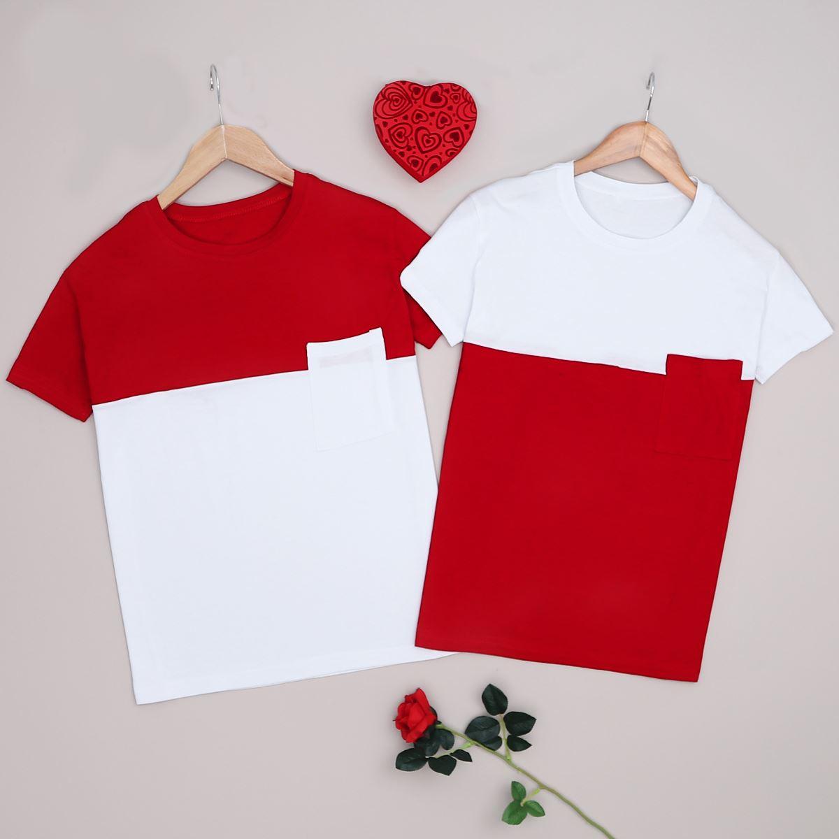Kırmızı T-shirt Erkek Sevgili Kombini SVG200