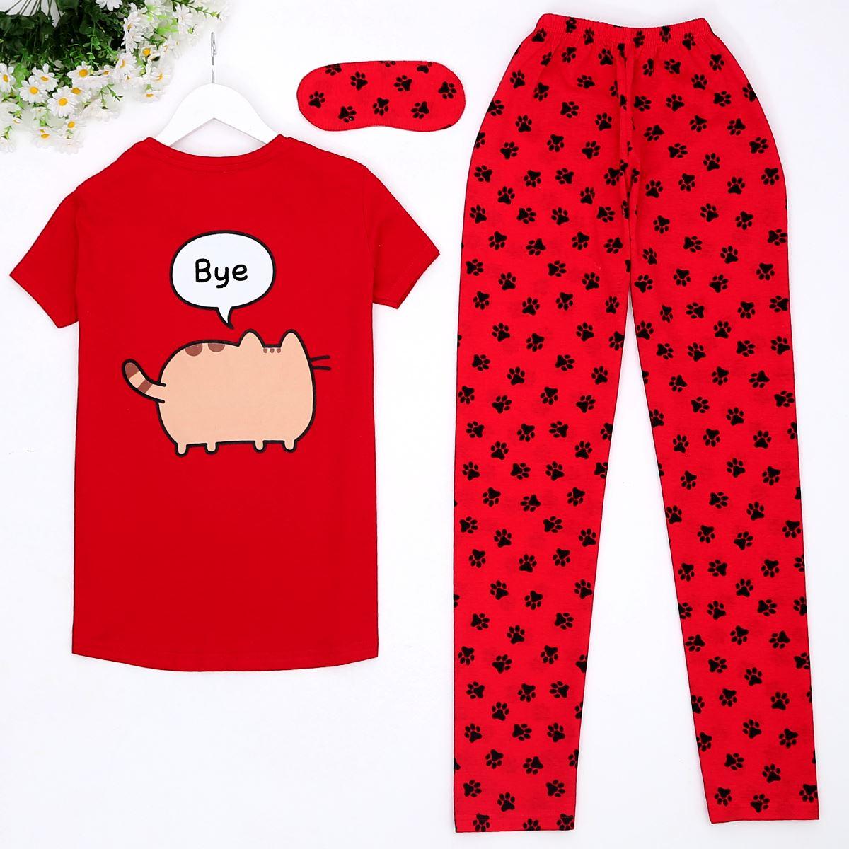 Hi Kırmızı Pijama Takımı Pjm355