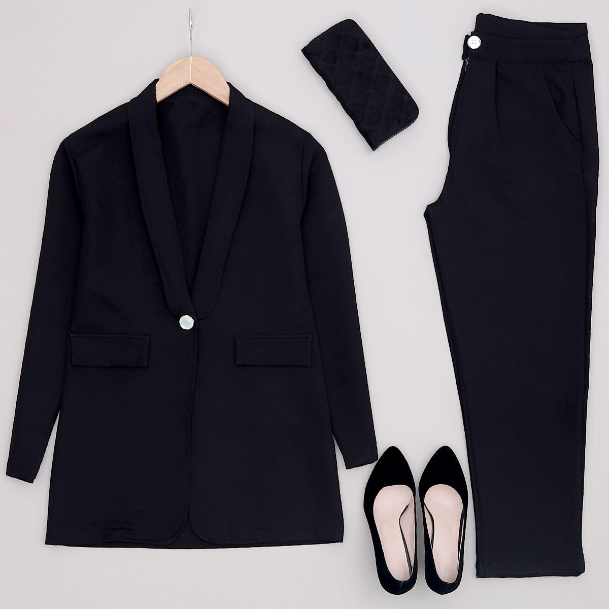 Siyah Ceket Pantolon Takım TKM803