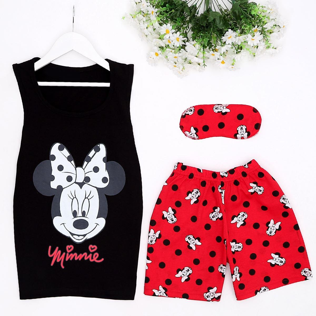 Minnie Siyah Pijama Takımı PJM877