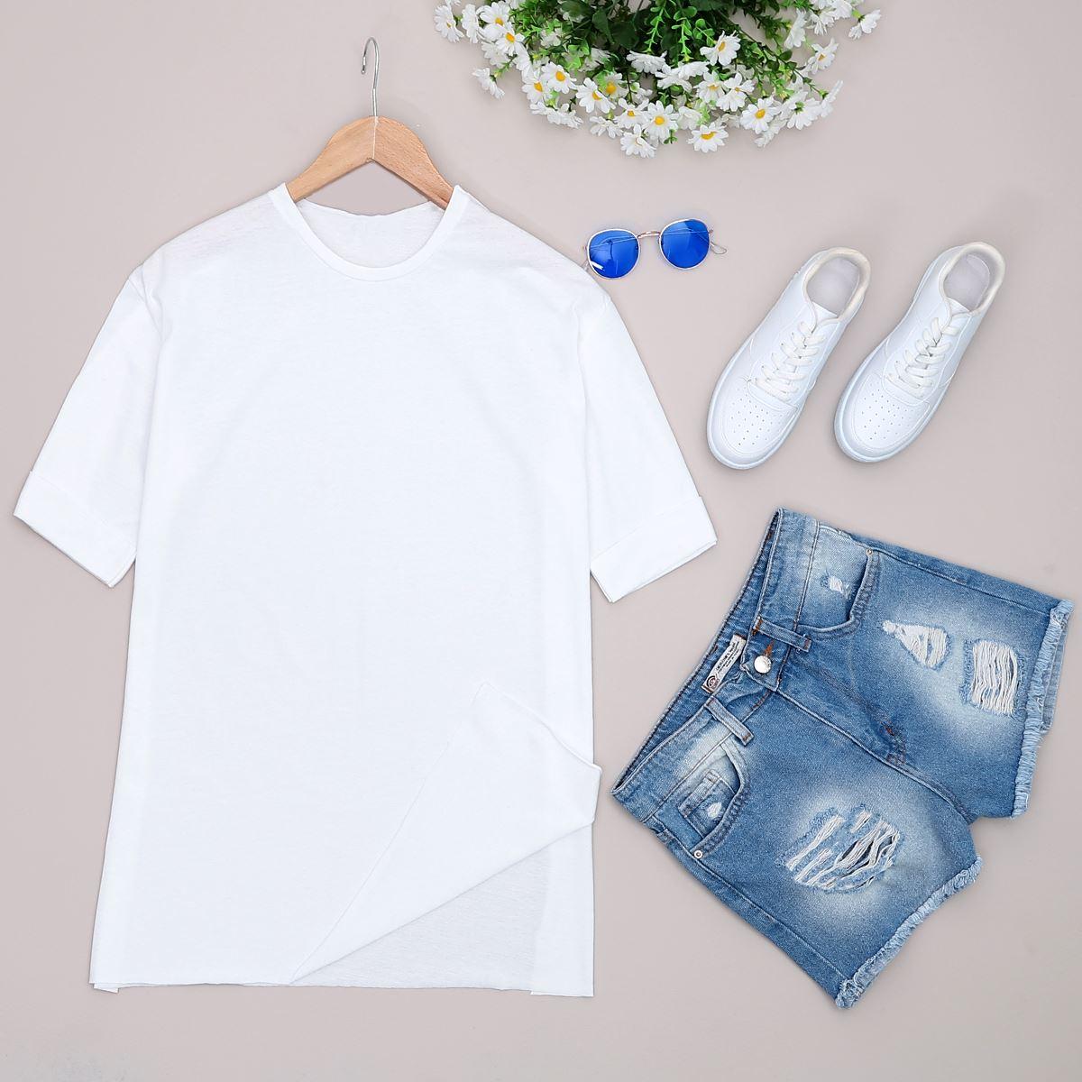 Beyaz Mom T-shirt TSH144