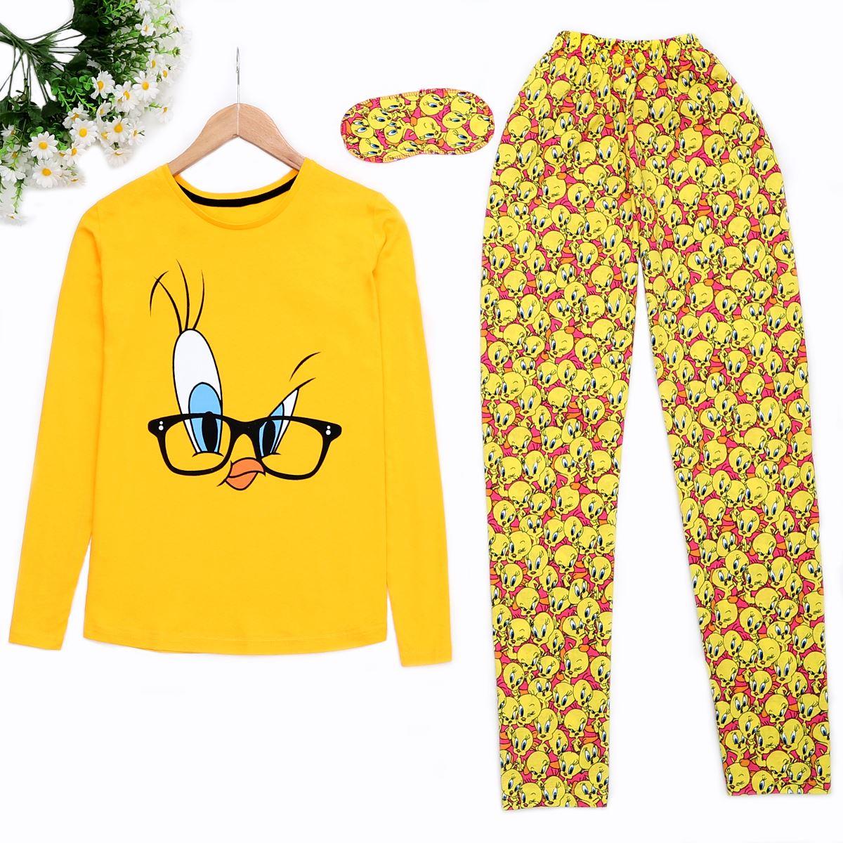 Bird Sarı Pijama Takımı Pjm884