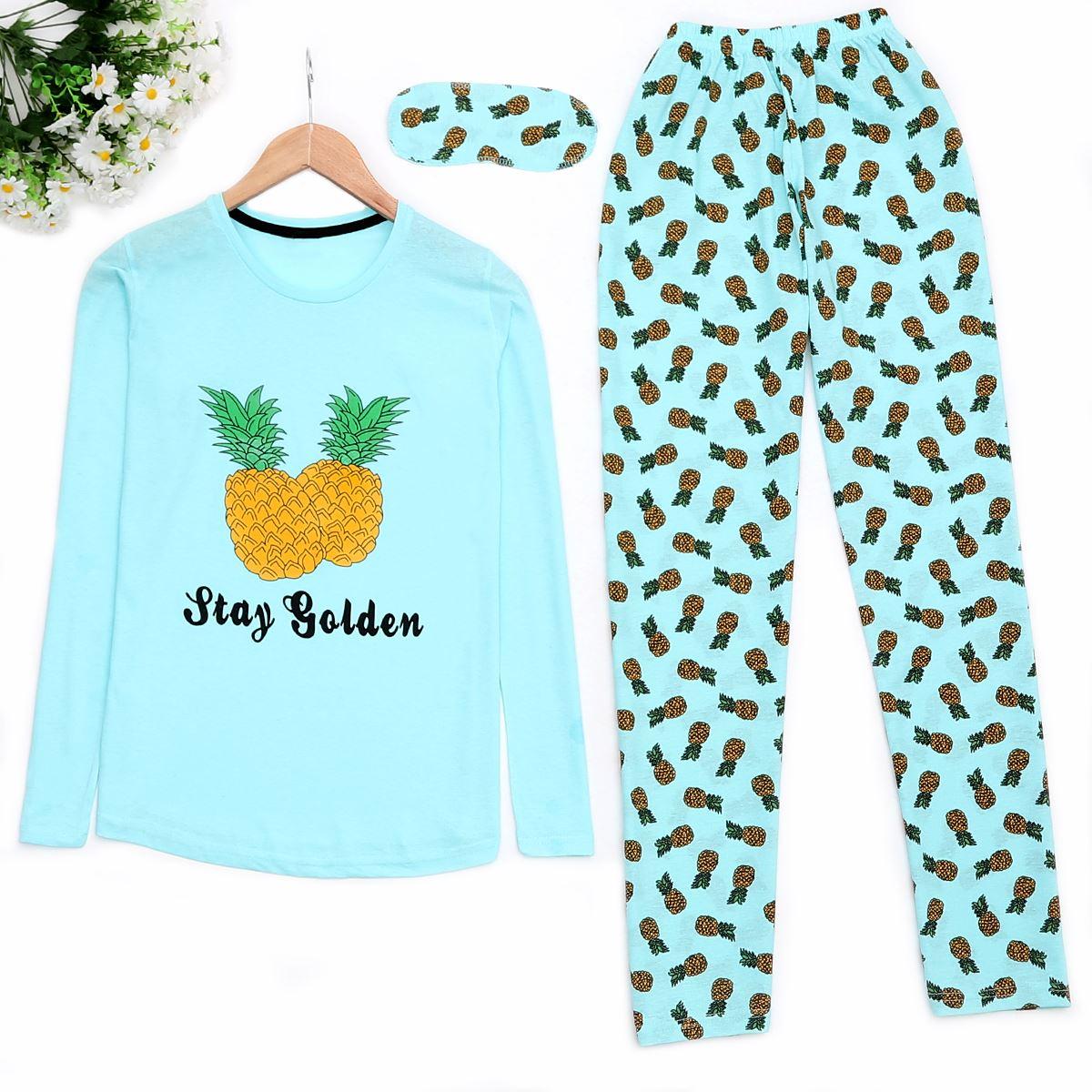 Pineapple Mavi Pijama Takımı PJM894