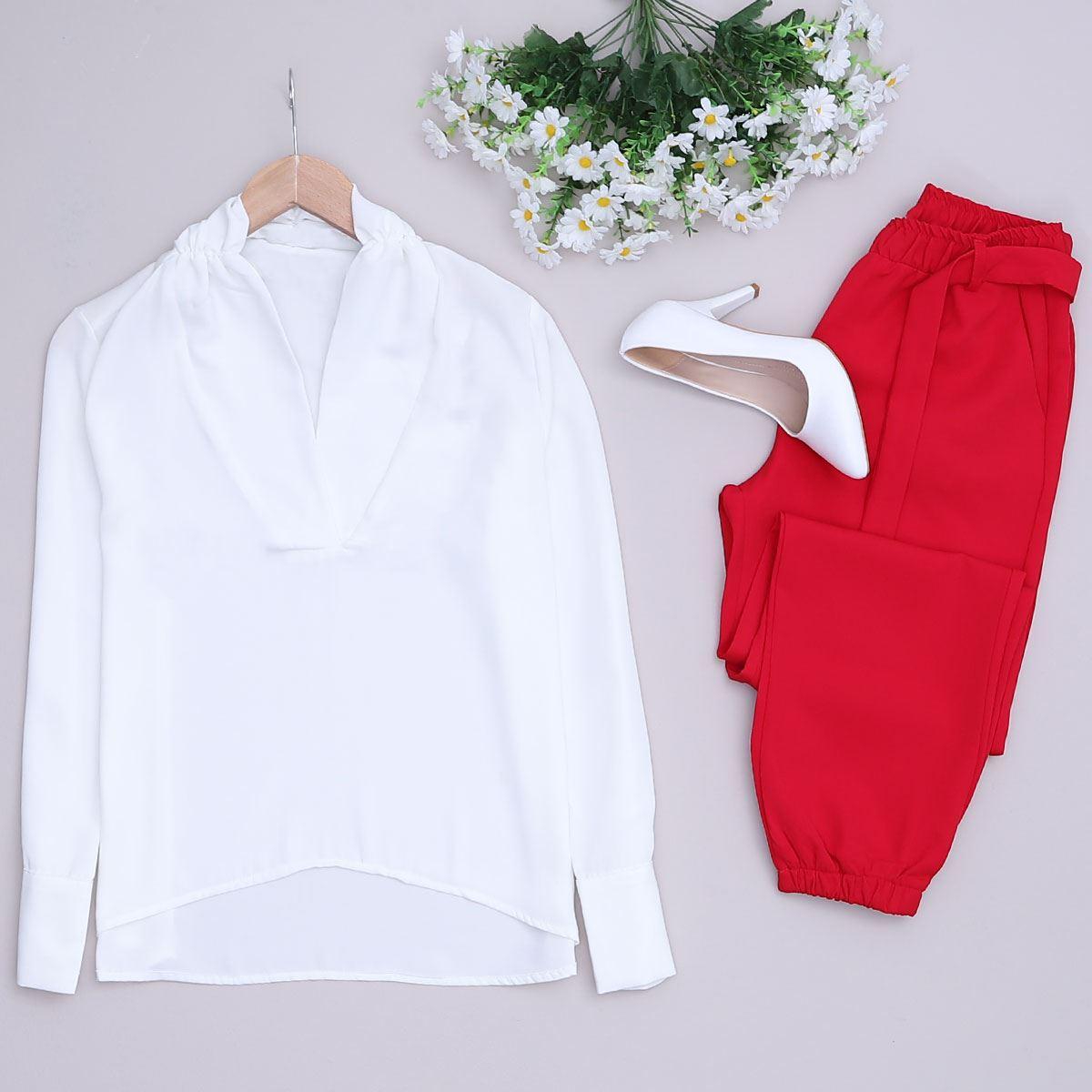 Beyaz Bluz BLZ047