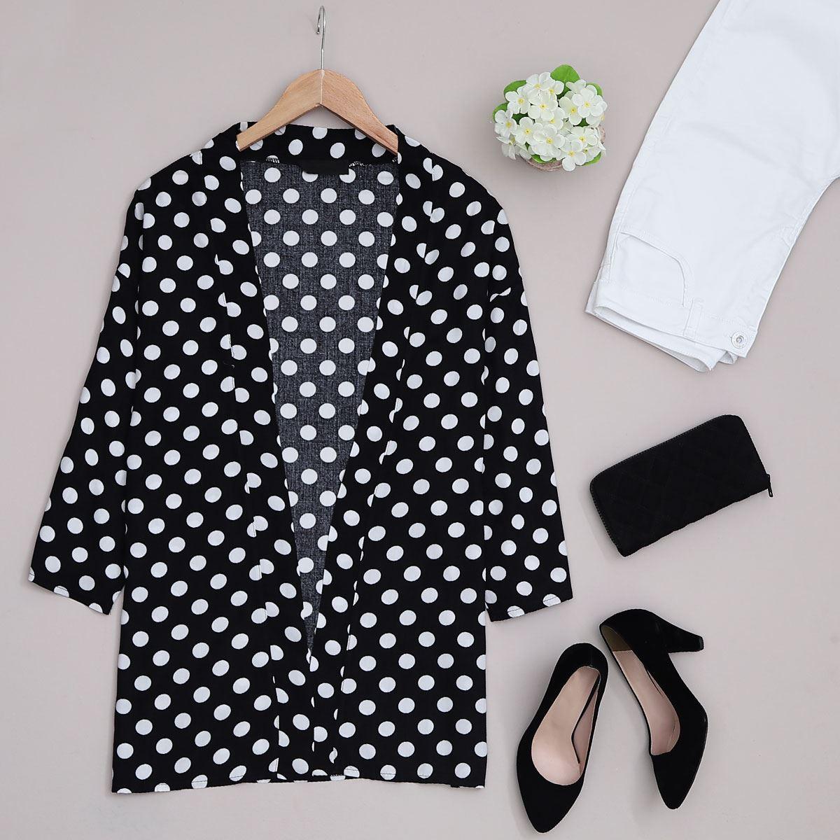 Siyah Puantiyeli Kimono CKT104