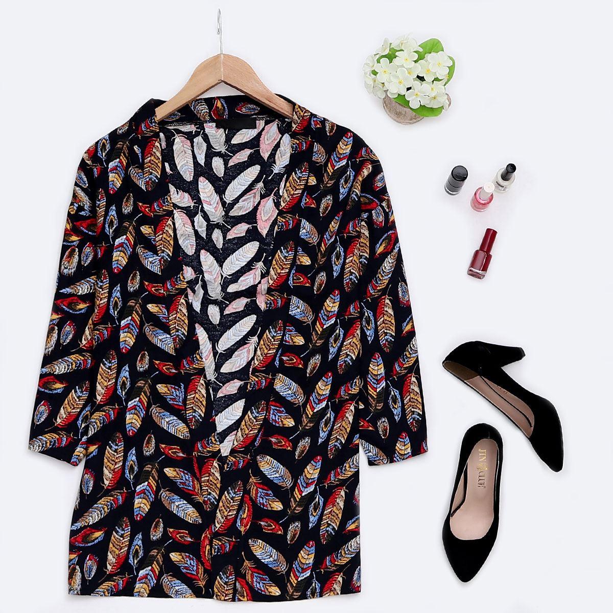 Siyah Desenli Kimono CKT107