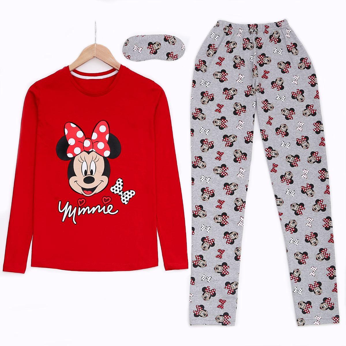 Minnie Kırmızı Pijama Takımı PJM914