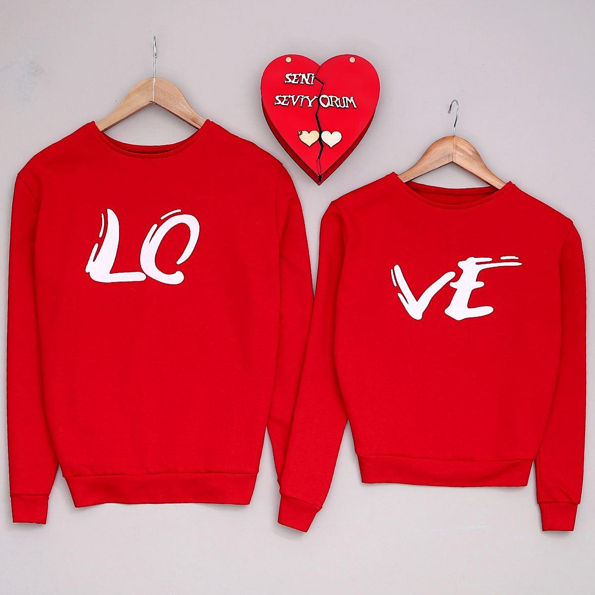 Ve Kırmızı Kadın Sevgili Kombini SVG248