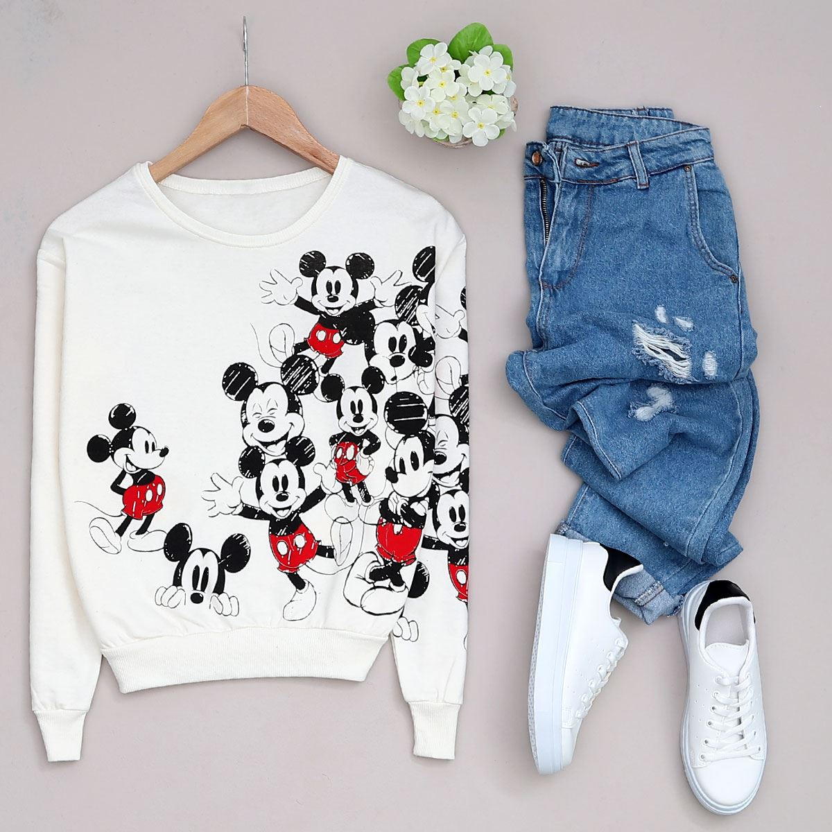 Mickey Baskılı Sweat SWT180