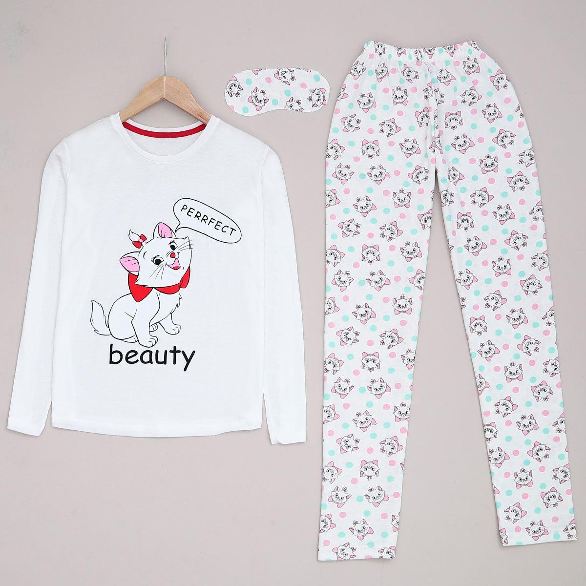 Cat Beyaz Pijama Takımı PJM915