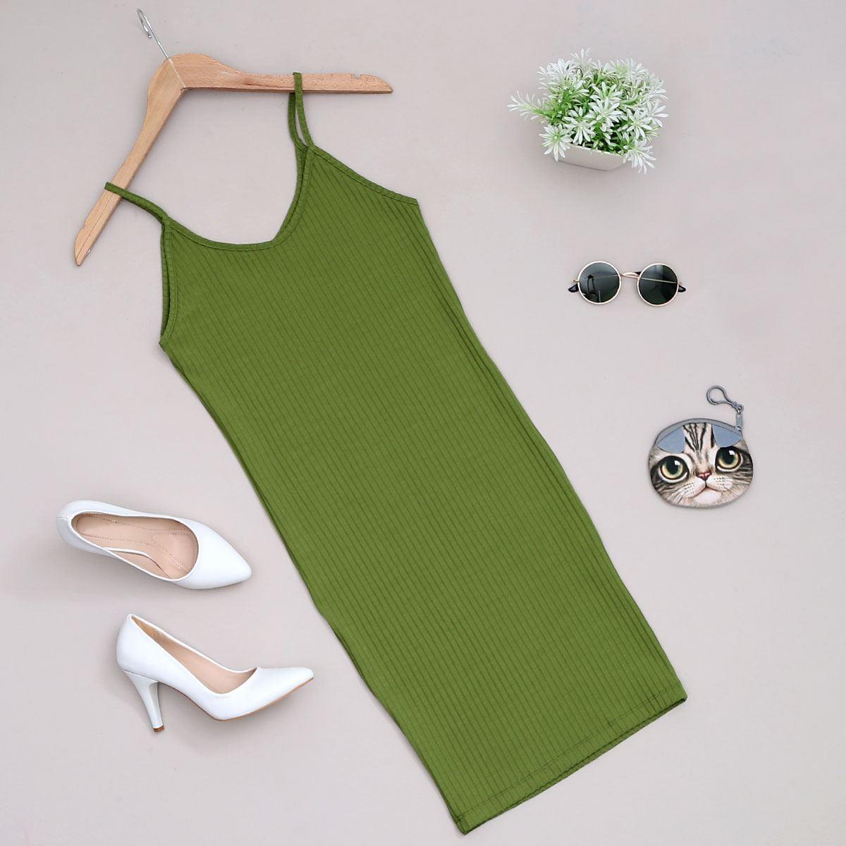 Yeşil Kaşkorse Elbise ELB377