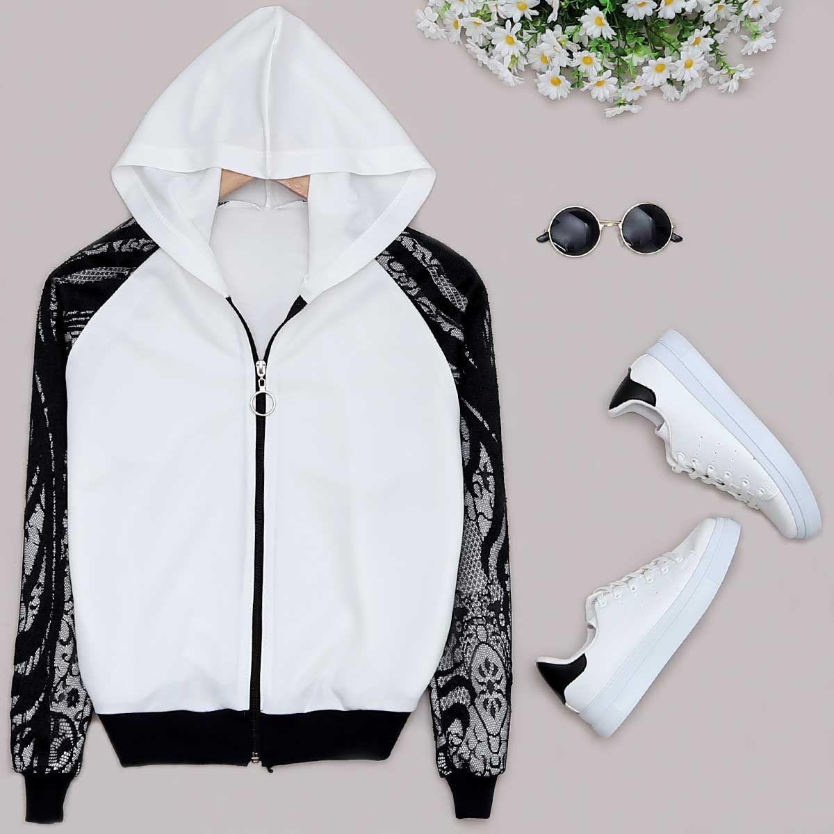 Beyaz Dantelli Ceket CKT138