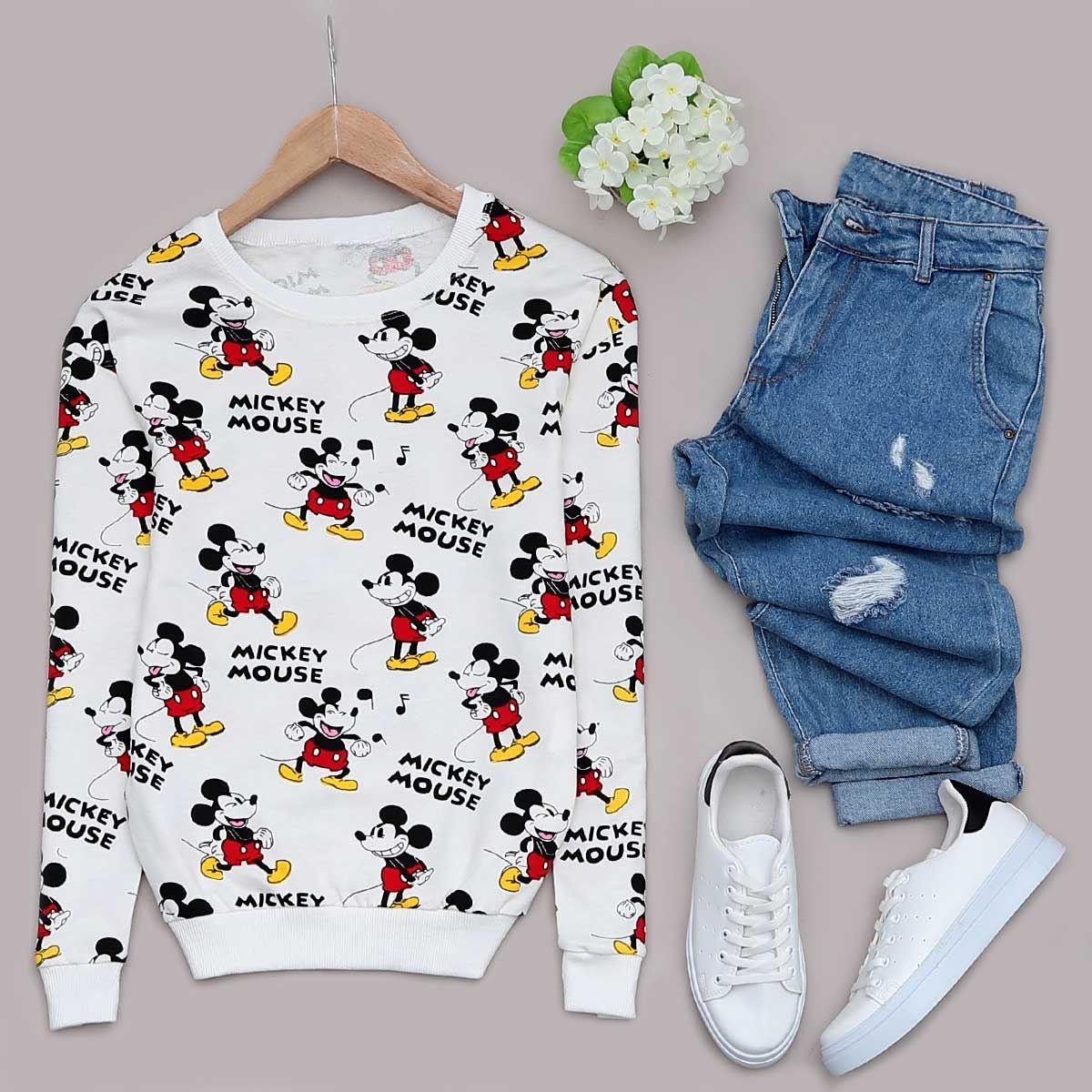 Beyaz Mickey Sweat SWT220