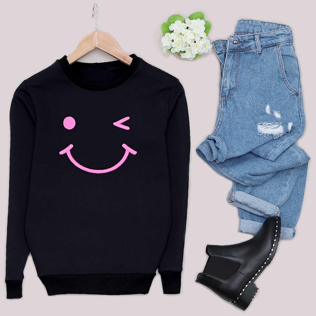 Siyah Smile Sweat SWT242