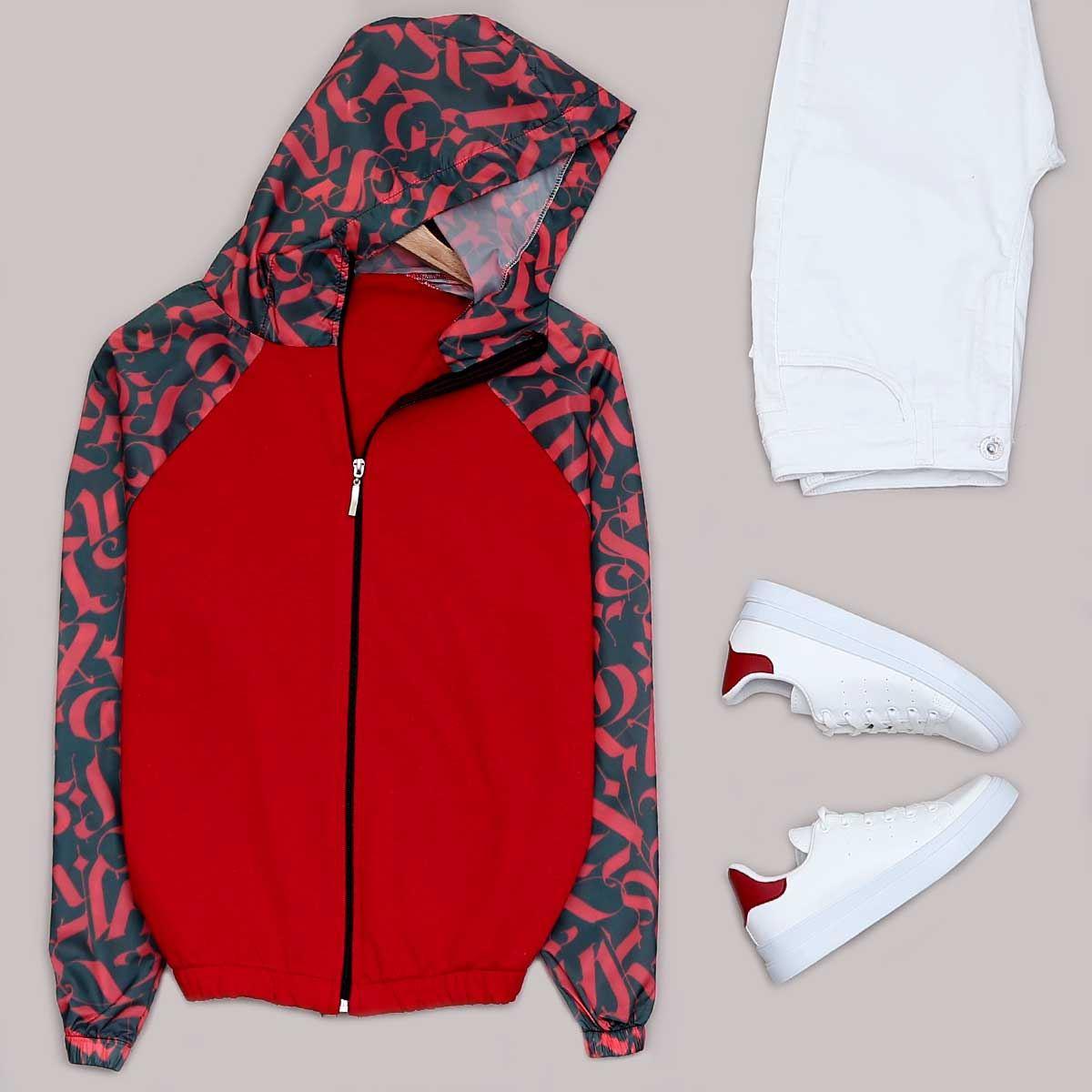 Kırmızı Kapşonlu Ceket CKT148