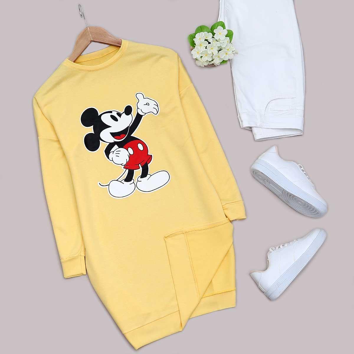 Sarı Mickey Sweat Tunik SWT265