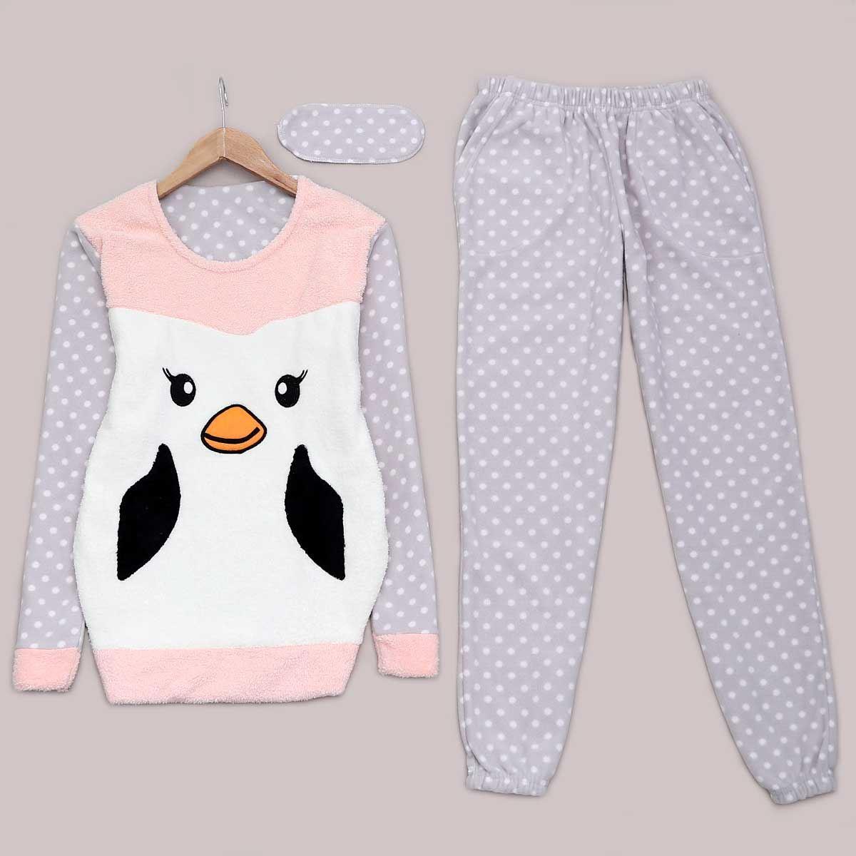 Penguen Peluş Pijama Takımı PJM946