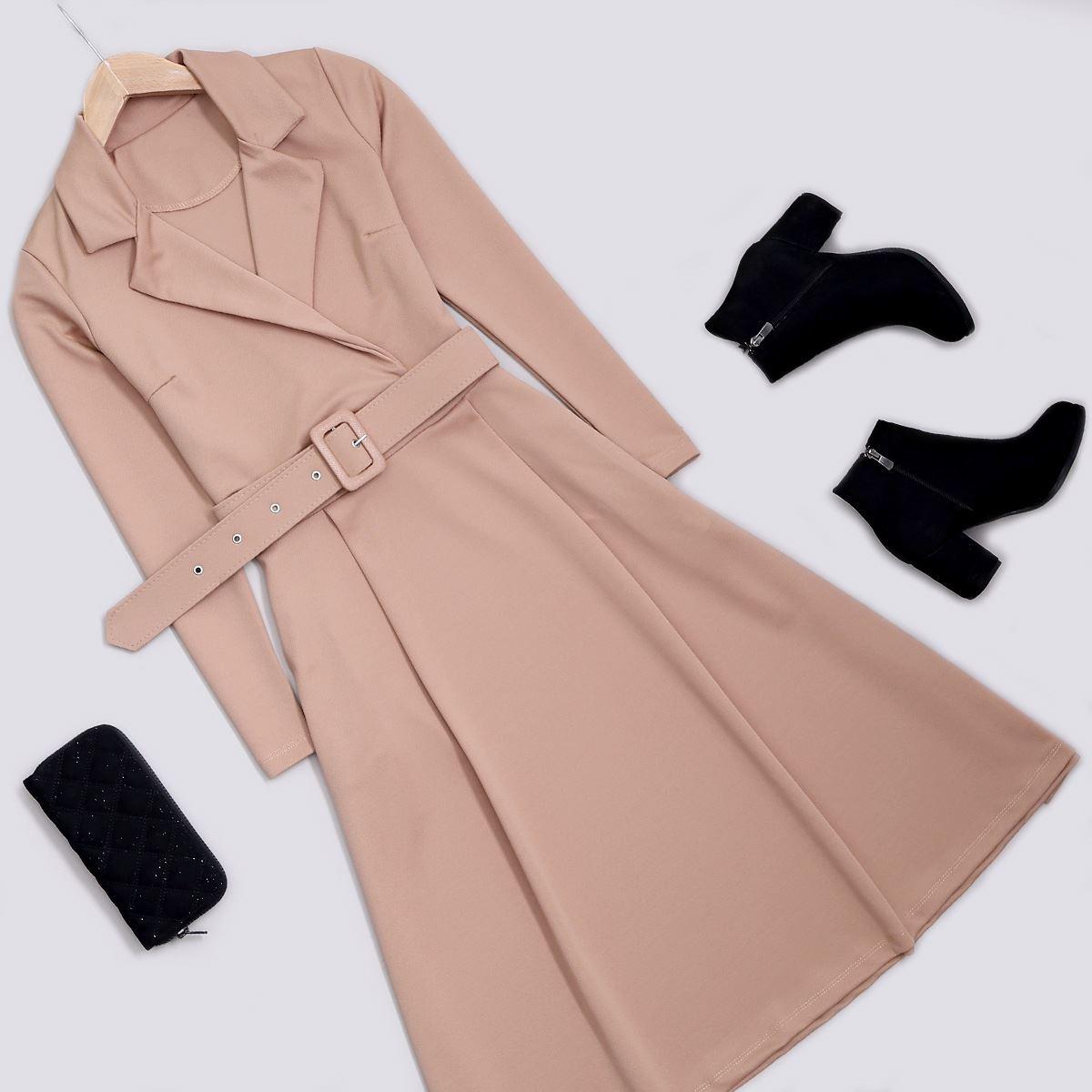 Vizon Kemerli Elbise ELB395