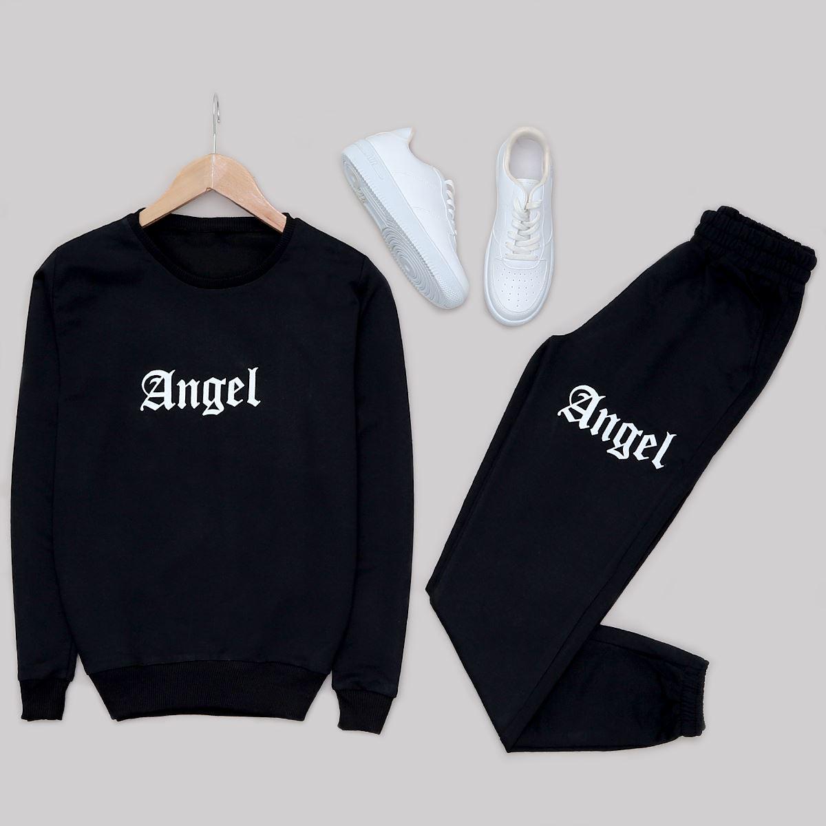 Siyah Angel Eşofman Takımı TKM1027
