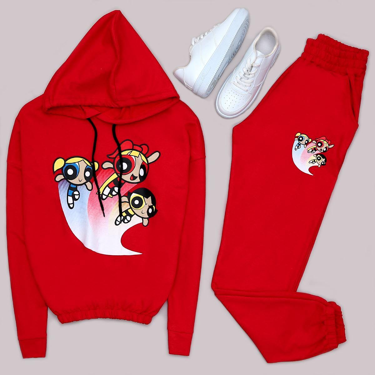 Kırmızı Powerpuff Girls Takım TKM1040