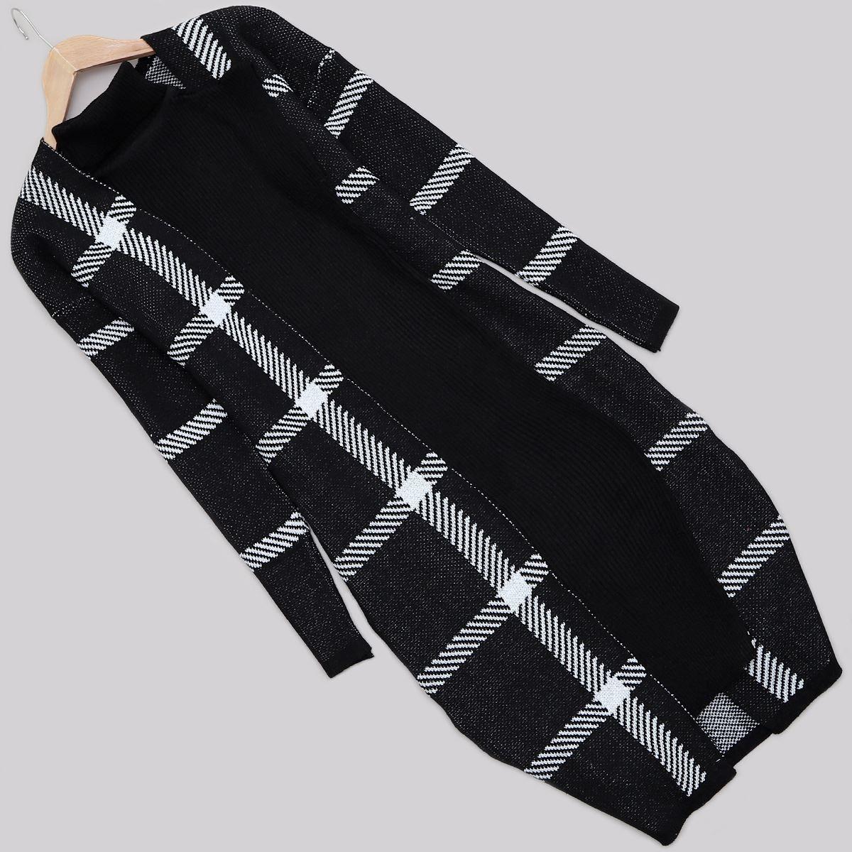 Siyah Elbise Hırka Takım TKM1088