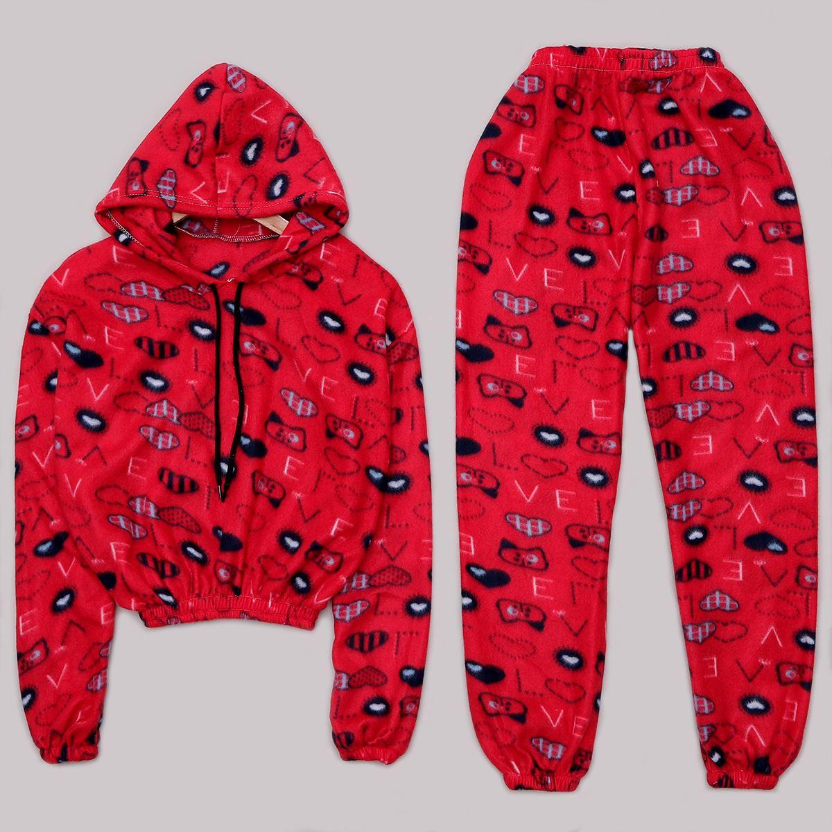 Bordo Polar Pijama Takımı PJM1063