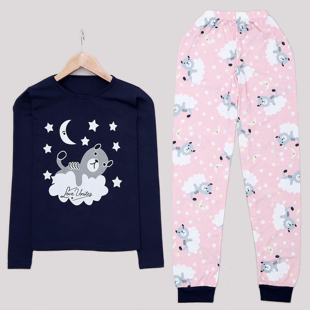 Lacivert Bear Pijama Takımı PJM1119