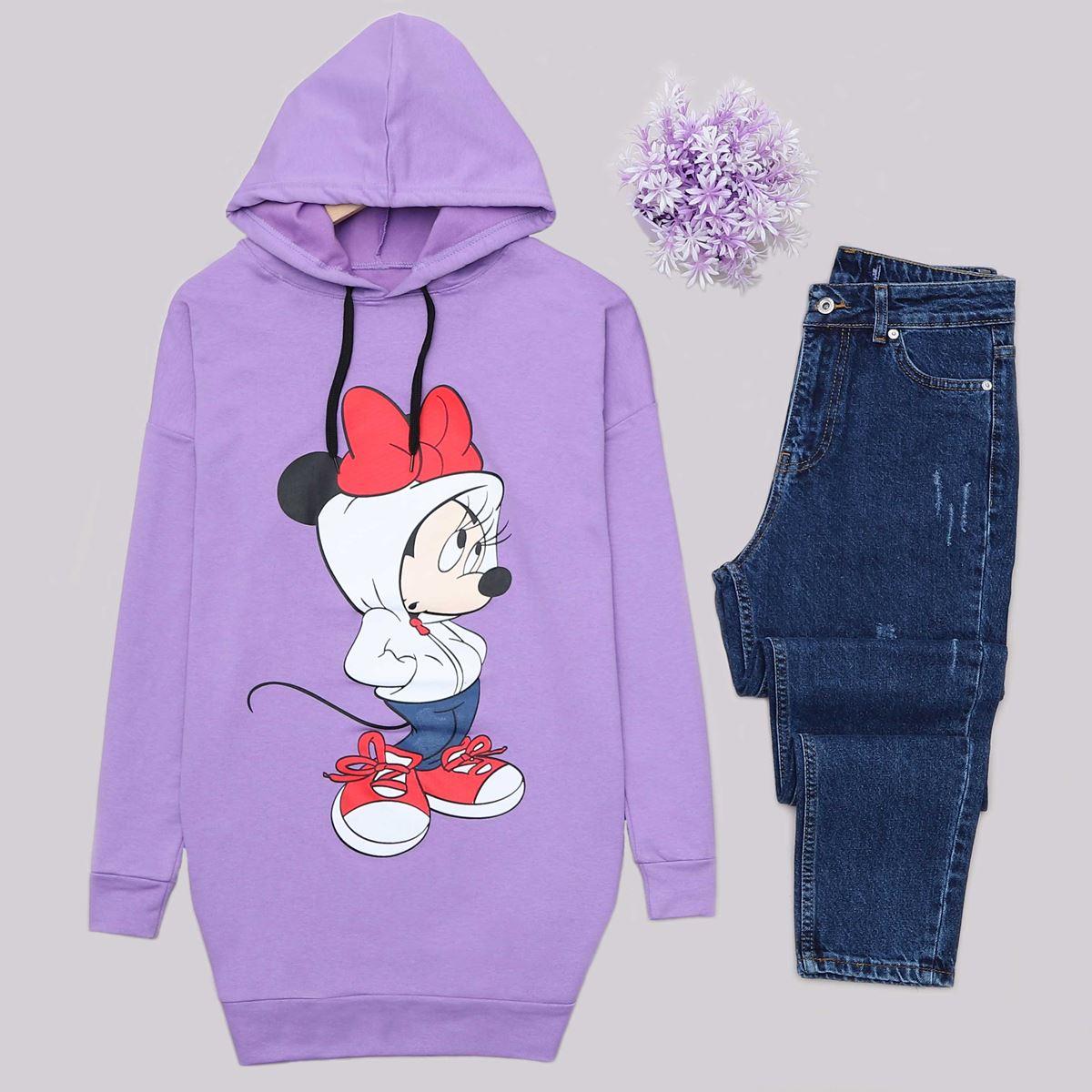 Lila Minnie Mouse Sweat Tunik SWT469