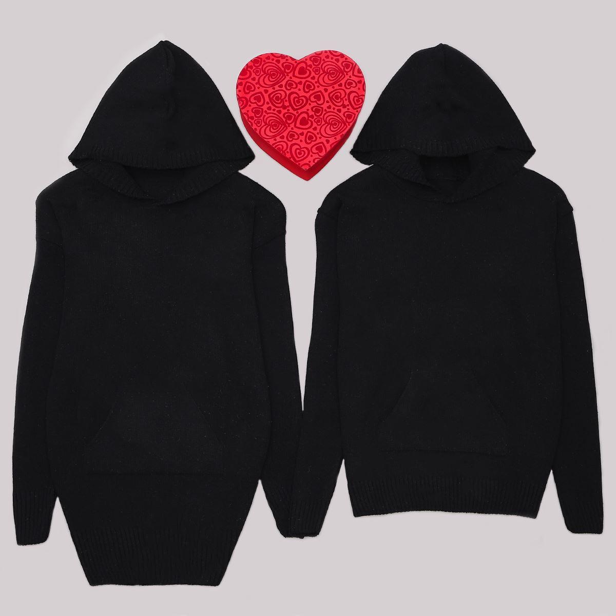Siyah Kapşonlu Sevgili Kombini SVG121