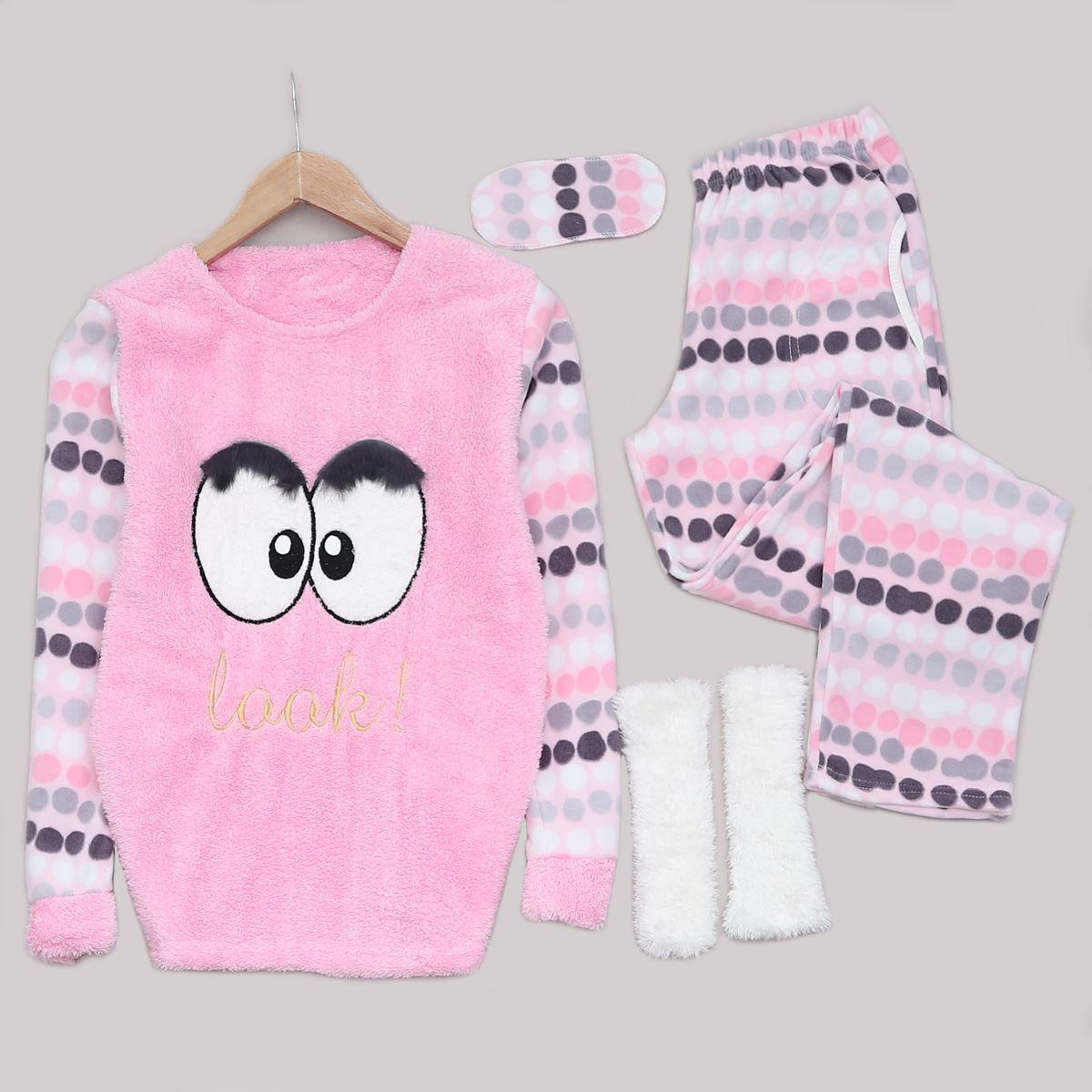 Pembe Patikli Pijama Takımı PJM1148