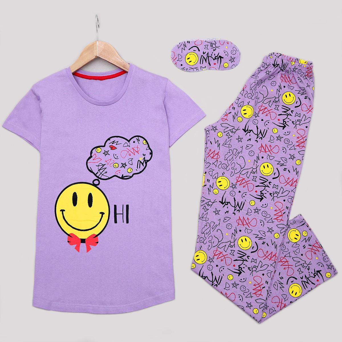 Lila Uyku Bantlı Pijama Takımı PJM1163
