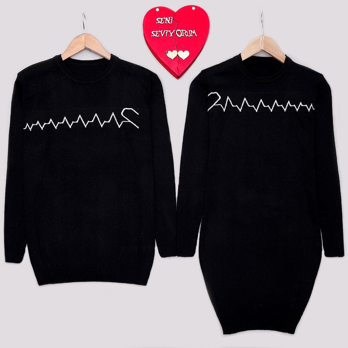 Kalp Atışı Siyah Sevgili Kombini SVG105